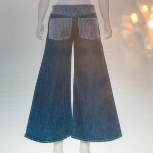 Chanel High Rise Denim Culottes